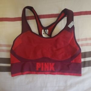 Unlined pink Small sports bra